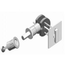 Square w/ TT14 T-Turn Barn Door Hardware Lock (EC1314) by Inox by Unison Hardware