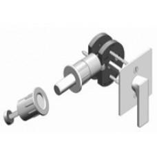 Square w/ TT15 ADA T-Turn Barn Door Hardware Lock (EC1315) by Inox by Unison Hardware