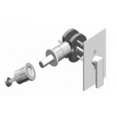 Rectangular w/ TT15 ADA T-Turn Barn Door Hardware Lock (EC1515) by Inox by Unison Hardware