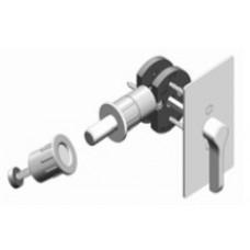 Rectangular w/ TT17 ADA T-Turn Barn Door Hardware Lock (EC1517) by Inox by Unison Hardware