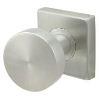 Arctic Door Knob Set w/ SE Square Rosette (SE379) by Inox by Unison Hardware
