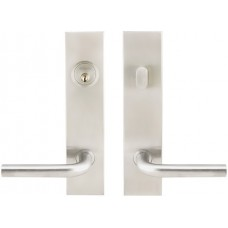 Rectangular Plate Keyed Decorative Plate Set (SF) by Inox by Unison Hardware