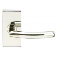 Oslo Door Lever Set w/ SH Rectangular Rosette (SH103) by Inox by Unison Hardware