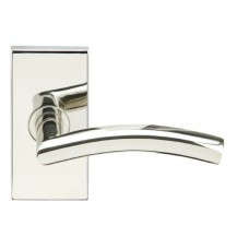 Brussels Door Lever Set w/ SH Rectangular Rosette (SH104) by Inox by Unison Hardware