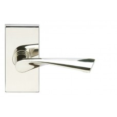 Breeze Door Lever Set w/ SH Rectangular Rosette (SH211) by Inox by Unison Hardware