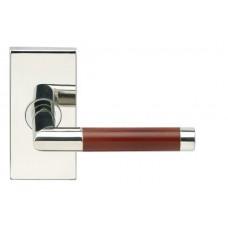 Cabernet Door Lever Set w/ SH Rectangular Rosette (SH213) by Inox by Unison Hardware