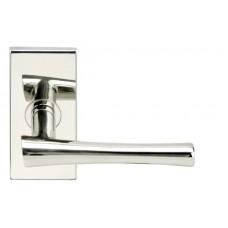 Champagne Door Lever Set w/ SH Rectangular Rosette (SH214) by Inox by Unison Hardware