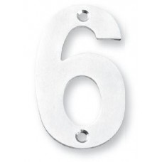 """Number 6 - 3"""" Concealed Bolt Fixing House Number (NUIXN36) by Inox by Unison Hardware"""