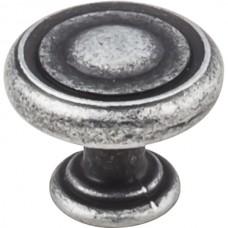 "Bremen Button Cabinet Knob (1-1/4"") - Distressed Antique Silver (117SIM) by Jeffrey Alexander"
