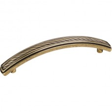 Encada Cable Drawer Pull (96mm CTC) - Lightly Distressed Antique Brass (12596AEM) by Jeffrey Alexander