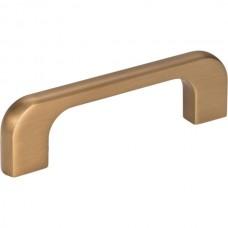 "Alvar Drawer Pull (3"" CTC) - Satin Bronze (264-3SBZ) by Jeffrey Alexander"