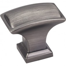 "Annadale Oblong Pillow Cabinet Knob (1-1/2"") - Brushed Pewter (435L-BNBDL) by Jeffrey Alexander"
