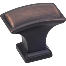 "Annadale Oblong Pillow Cabinet Knob (1-1/2"") - Brushed Oil Rubbed Bronze (435L-DBAC) by Jeffrey Alexander"
