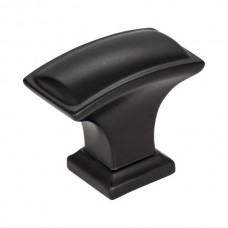 "Annadale Oblong Pillow Cabinet Knob (1-1/2"") - Matte Black (435L-MB) by Jeffrey Alexander"