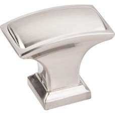 "Annadale Oblong Pillow Cabinet Knob (1-1/2"") - Satin Nickel (435L-SN) by Jeffrey Alexander"