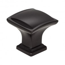 "Annadale Square Pillow Cabinet Knob (1-1/4"") - Matte Black (435MB) by Jeffrey Alexander"
