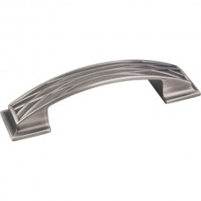 Aberdeen Lined Pillow Drawer Pull (96mm CTC) - Brushed Pewter (535-96BNBDL) by Jeffrey Alexander