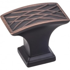 "Aberdeen Oblong Lined Pillow Cabinet Knob (1-1/2"") - Brushed Oil Rubbed Bronze (535L-DBAC) by Jeffrey Alexander"