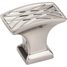 "Aberdeen Oblong Lined Pillow Cabinet Knob (1-1/2"") - Satin Nickel (535L-SN) by Jeffrey Alexander"