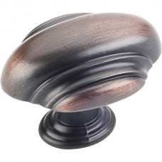 "Amsden Oblong Cabinet Knob (1-7/16"") - Brushed Oil Rubbed Bronze (613DBAC) by Jeffrey Alexander"