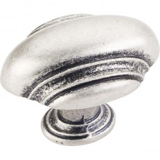 "Amsden Oblong Cabinet Knob (1-5/8"") - Distressed Pewter (613L-DP) by Jeffrey Alexander"