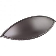 Lenoir Rope Shaker Cup Bin Pull (96mm CTC) - Dark Bronze (8237ORB) by Jeffrey Alexander
