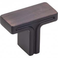 """Anwick Rectangle Cabinet Knob (1-3/8"""") - Brushed Oil Rubbed Bronze (867DBAC) by Jeffrey Alexander"""