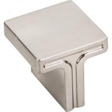 "Anwick Rectangle Cabinet Knob (1-1/8"") - Satin Nickel (867L-SN) by Jeffrey Alexander"