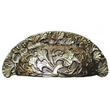 "Florid Leaves Bin Pull (3"" cc) - Antique Brass (NHBP-802-AB) by Notting Hill"