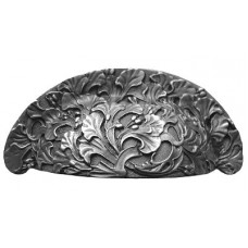 "Florid Leaves Bin Pull (3"" cc) - Antique Pewter (NHBP-802-AP) by Notting Hill"