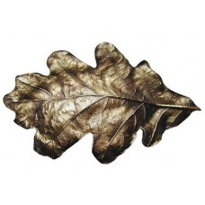 "Oak Leaf Bin Pull (3"" cc) - Antique Brass (NHBP-844-AB) by Notting Hill"