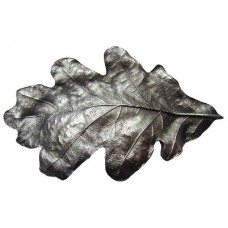 "Oak Leaf Bin Pull (3"" cc) - Antique Pewter (NHBP-844-AP) by Notting Hill"