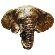 "Goliath (Elephant) Bin Pull (3"" cc) - Antique Brass (NHBP-853-AB) by Notting Hill"