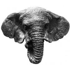 "Goliath (Elephant) Bin Pull (3"" cc) - Antique Pewter (NHBP-853-AP) by Notting Hill"