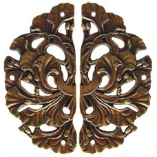 Florid Leaves (sold in pairs) Hinge Plates - Antique Brass (NHH-902-AB) by Notting Hill