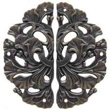 Florid Leaves (sold in pairs) Hinge Plates - Antique Pewter (NHH-902-AP) by Notting Hill