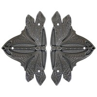 Dragonfly (sold in pairs) Hinge Plates - Antique Pewter (NHH-907-AP) by Notting Hill