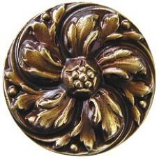 Chrysanthemum Cabinet Knob - Antique Brass (NHK-100-AB) by Notting Hill