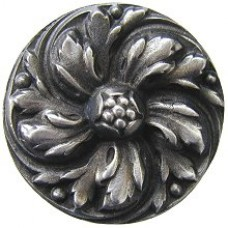 Chrysanthemum Cabinet Knob - Antique Pewter (NHK-100-AP) by Notting Hill