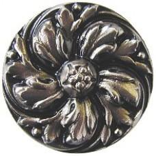 Chrysanthemum Cabinet Knob - Satin Nickel (NHK-100-SN) by Notting Hill
