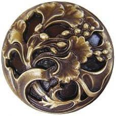 Florid Leaves Cabinet Knob - Antique Brass (NHK-102-AB) by Notting Hill