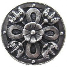 Celtic Shield Cabinet Knob - Antique Pewter (NHK-103-AP) by Notting Hill