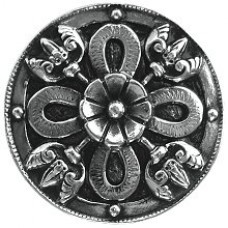 Celtic Shield Cabinet Knob - Brite Nickel (NHK-103-BN) by Notting Hill