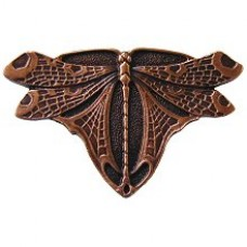Dragonfly Cabinet Knob - Antique Copper (NHK-107-AC) by Notting Hill