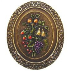 Fruit Bouquet Cabinet Knob - Brass Hand Tinted (NHK-113-BHT) by Notting Hill