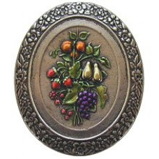 Fruit Bouquet Cabinet Knob - Brite Nickel Hand Tinted (NHK-113-BNHT) by Notting Hill
