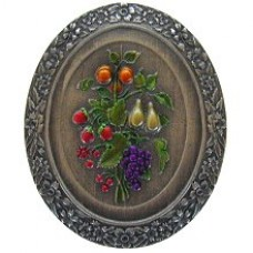 Fruit Bouquet Cabinet Knob - Pewter Hand Tinted (NHK-113-PHT) by Notting Hill