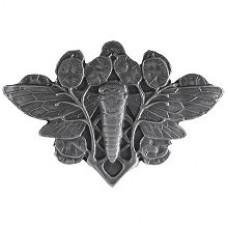 Cicada on Leaves Cabinet Knob - Antique Pewter (NHK-120-AP) by Notting Hill