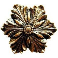 Opulent Flower Cabinet Knob - Brite Brass (NHK-125-BB) by Notting Hill