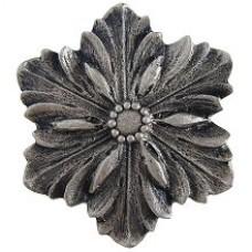 Opulent Flower Cabinet Knob - Satin Nickel (NHK-125-SN) by Notting Hill